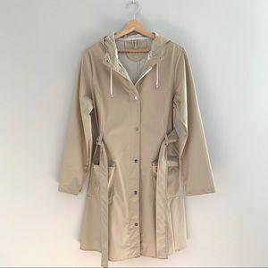 Rains Belted Raincoat (Beige)